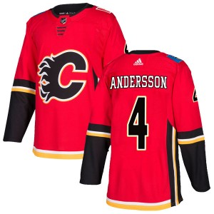 Youth Adidas Calgary Flames Rasmus Andersson Red Home Jersey - Authentic